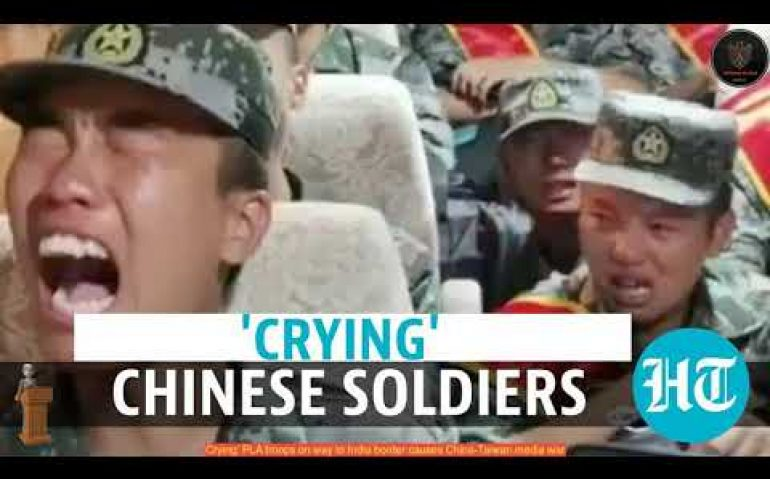 Crying' PLA troops on way to India border causes China-Taiwan ...